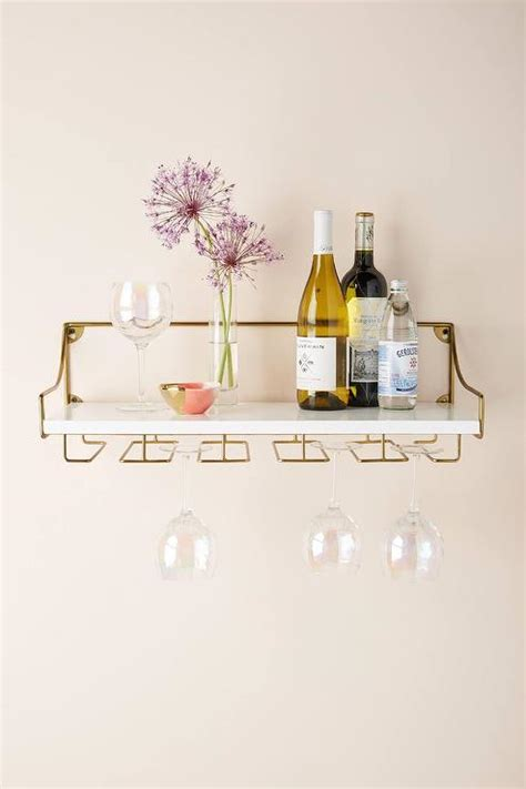 white  brass olivia wall mounted shelves