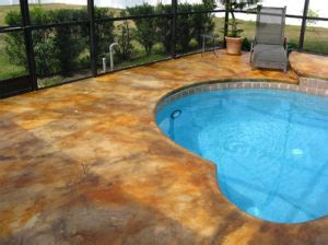 pool deck paint  stain whats   concrete pool decks