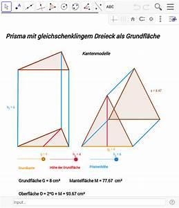 Grundfläche Berechnen Prisma : prismen geogebrabook ~ Themetempest.com Abrechnung