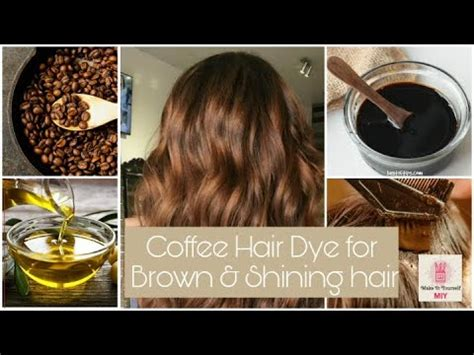 Ming na wen shows us a lovely coffee and caramel blend. Homemade Coffee hair mask   100% natural organic hair dye ...