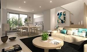 decoration salon salle a manger comment optimiser l39espace With salle À manger contemporaine avec idee deco salon salle a manger