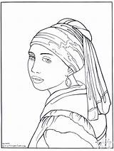 Painter Coloring Pages Vermeer Advertisement sketch template