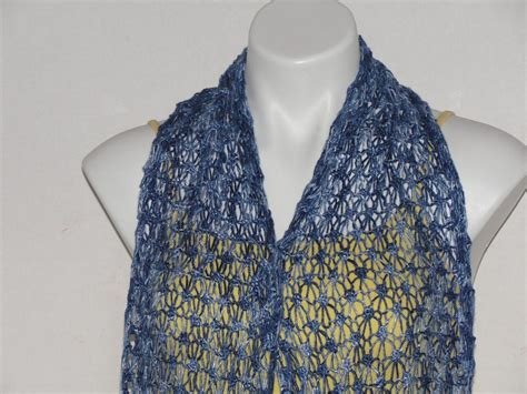 knit scarf you have to see lace scarf bobble knit on craftsy
