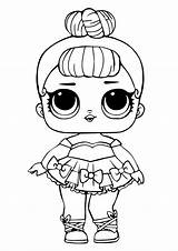 Lol Coloring Doll Dolls Surprise Glitter Miss Printable Unicorn sketch template