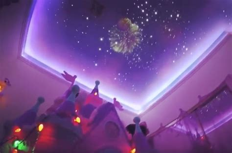 dad recreates disney 39 s fireworks display in his daughter 39 s bedroom and other crazy ways people