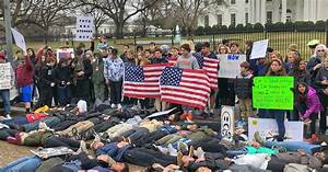 High School Students Lead Protest Against Gun Violence In ...