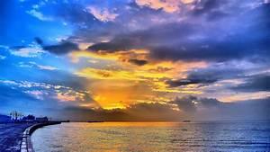 Beautiful Sea Sunset 4k Ultra HD wallpaper