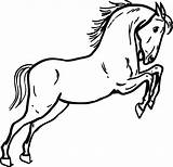 Coloring Pony Horse Horses sketch template