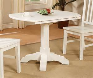 powell color story white drop leaf bistro table pw