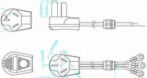 10 250v America Heavy Duty Range Power Cord
