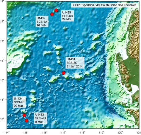 Iodpusio Expeditions Expedition 349 Ship Reports South