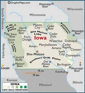 Iowa Large Color Map