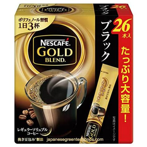Sold by momo's finds and ships from amazon fulfillment. Nescafe Gold Blend Black Instant Coffee 26 Sticks (52 grams) - Japanese Green Tea Shops