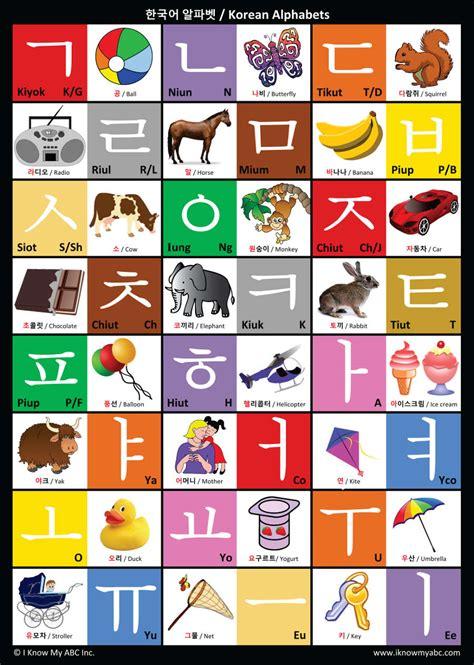 alphabet chart korean alphabet chart by i my abc 9781945285028 abc p 8