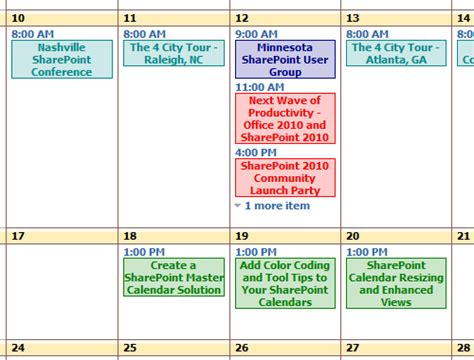color coded calendar can i add diffrent colors to events of calendars