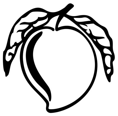 clipart black and white mango clip images black and white