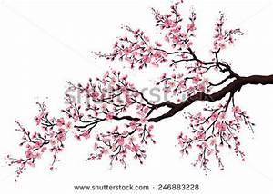 Dessin Fleur De Cerisier Japonais Noir Et Blanc : dessin cerisier japonais fleurs ~ Melissatoandfro.com Idées de Décoration