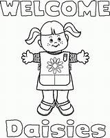 Coloring Pages Scouts Scout Daisy Popular sketch template