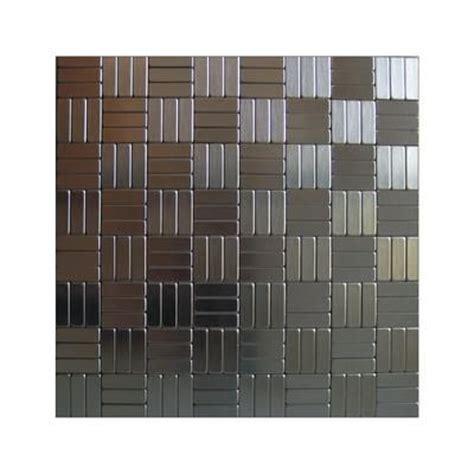 tiles backsplash kitchen inoxia speedtiles loft mosaic self adhesive metal tiles