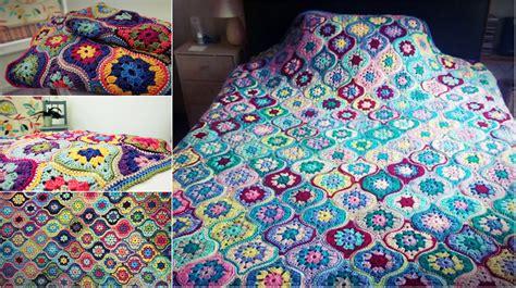 easy mystical lanterns blanket  crochet pattern