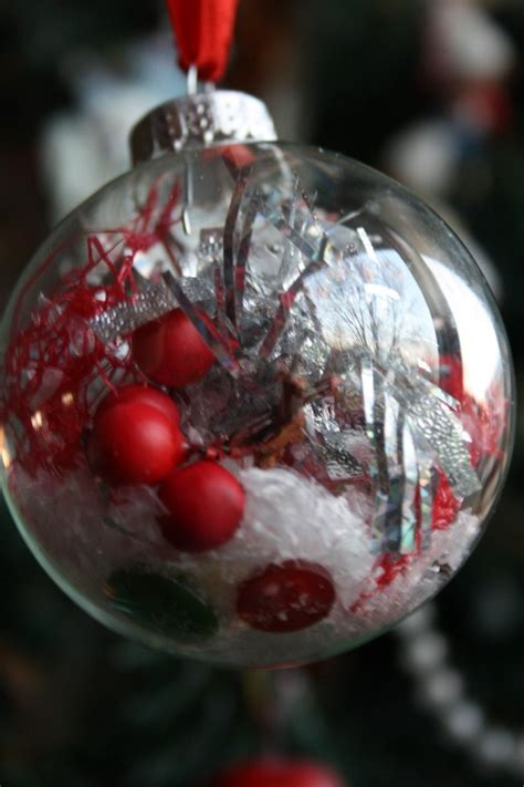 decorated clear glass christmas balls