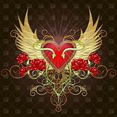 hearts-with-ribbons-and-wings