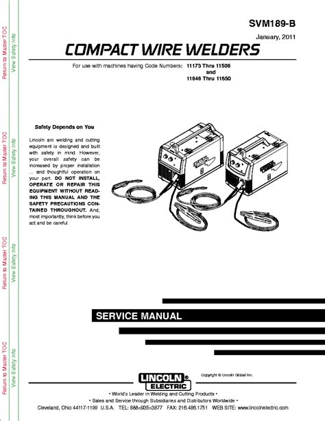 lincoln electric svm189 b compact wire welders service manual download schematics eeprom