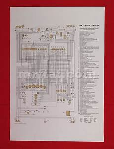 Fiat Dino 2000 Spider Wiring Diagram 59x84 Cm New