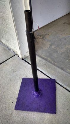 diy tee ball stand  plumbing pipes  ball baseball