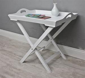 Tisch Weiß Holz : tablett tisch wei holz ~ Markanthonyermac.com Haus und Dekorationen