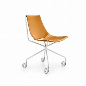 Chaise à Roulettes : apelle d chaise roulettes midj chaise bureau cuir ~ Melissatoandfro.com Idées de Décoration