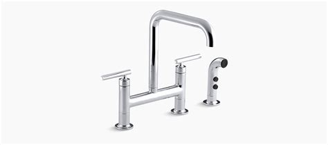 Kohler Purist Bridge Kitchen Faucet by Standard Plumbing Supply Product Kohler K 7548 4 Vs