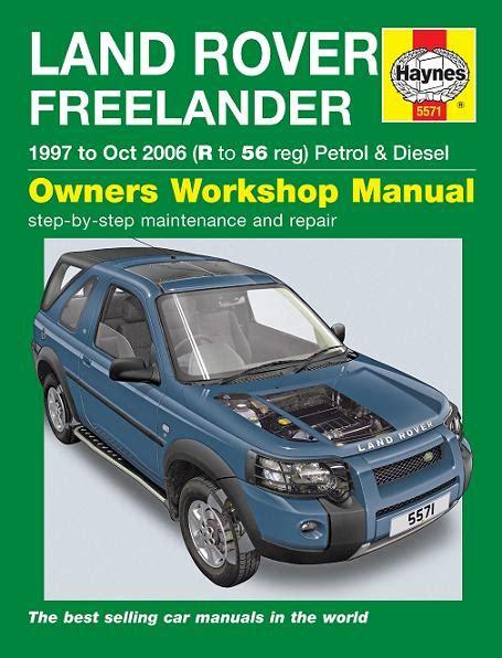 car repair manuals online pdf 2006 land rover lr3 transmission control 1997 2006 land rover freelander haynes repair manual
