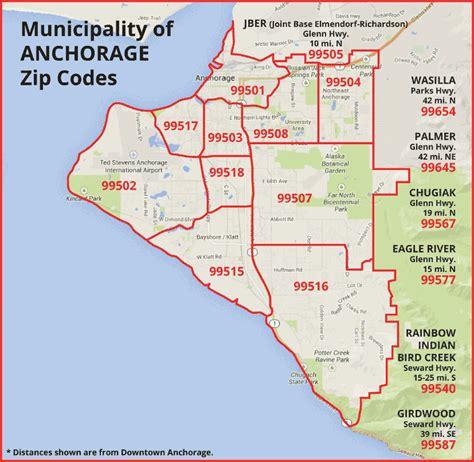 Anchorage Zip Code Map | Zip Code Map
