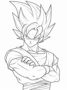 Free goku outline coloring pages