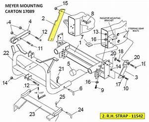 Oem Meyer Rh Strap 11542 For Snow Plow Mounting Carton 17089