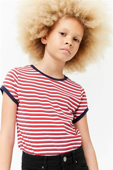 Product Name:Girls Striped Ringer Tee (Kids) Category