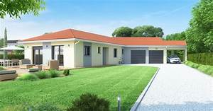 maison plain pied garage double et carport maisons ideales With wonderful modele de plan maison 0 maison plain pied garage double