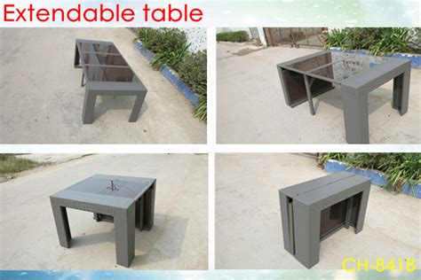 outdoor rattan furniture extendable dining table aluminum