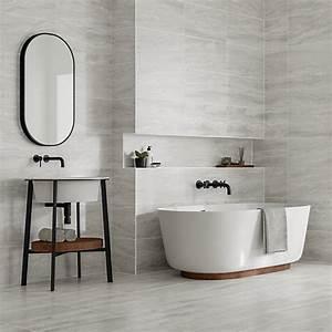 Wickes Callika Mist Grey Porcelain Tile 600 x 300mm ...