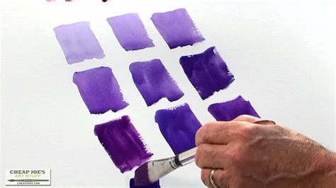 what to colors make purple watercolor techniques with don mixing violets