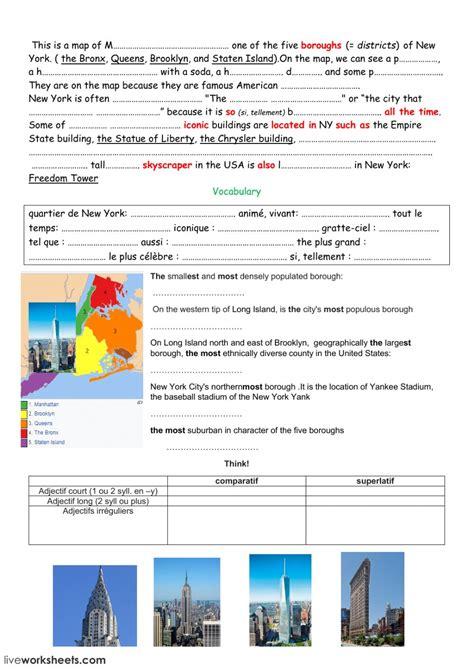 yorks boroughs interactive worksheet