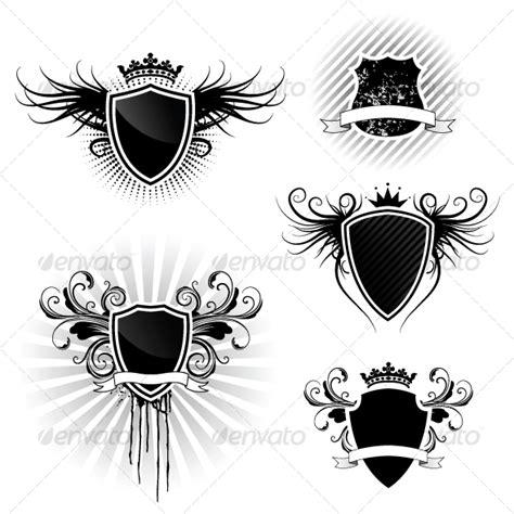 shield logo photoshop psd templates  images
