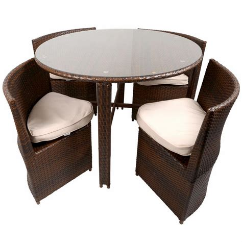 outdoor wicker table and chairs napoli rattan wicker dining garden furniture set with