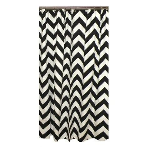 cheap chevron shower curtain color black and white for