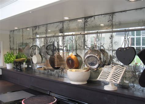 kitchen mirror backsplash antique mirror backplash touches modern feature with