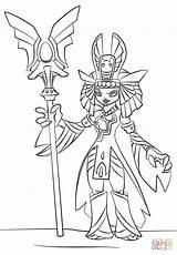 Skylanders Coloring Pages Queen Golden Trap Team Printable Print Skylander Sheets Drawing Doom Raiders Manga Tegninger Gold Characters sketch template
