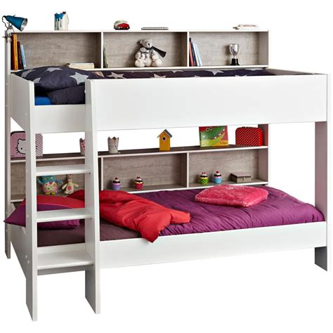 bureau blanc tiroir lit superposé acheter en ligne emob
