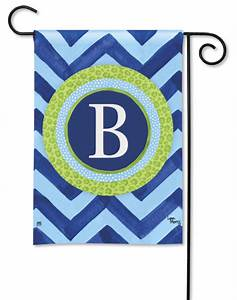 monogram flags by breeze art With monogram garden flags letter m