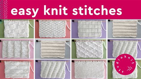 easy knit stitch patterns  beginners youtube